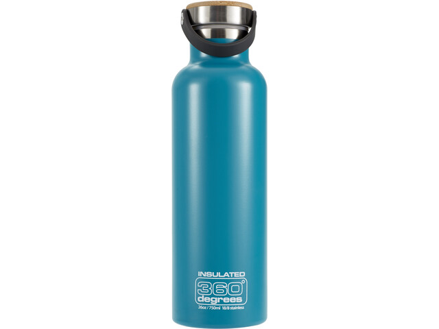 360° degrees Vacuum Insulated Drinkfles 750ml petrol